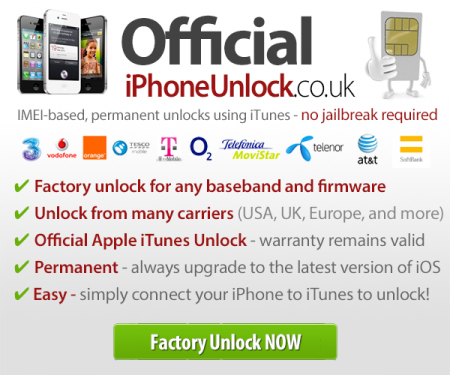 Factory iPhone Unlock