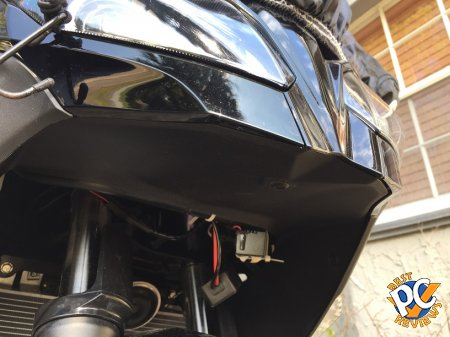 Mounting camera under headlight